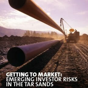 Getting to Market - new report by Platform, Oil Change Int. and Greenpeace UK highlights investor risks in the tar sands