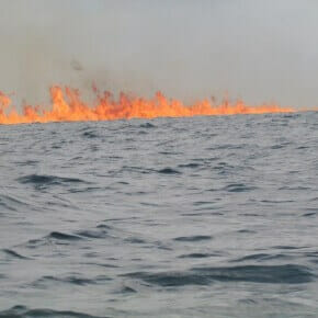 In pictures: Chevron rig still burning in Nigeria