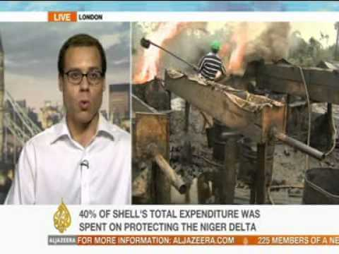 Exclusive interviews with Al-Jazeera on Shell's security spending in Nigeria