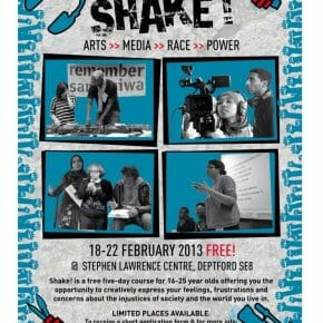 SHAKE! Arts>>Media>>Race>>Power, 18-22 February