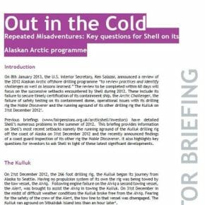 Repeated Misadventures: Key questions for Shell on its Alaskan Arctic programme