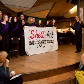 Shell's involvement in the arts targeted twice in one week