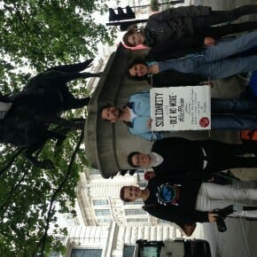 At George III statue
