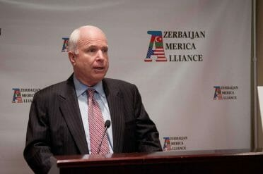 Senator John McCain speaking at the inaugural event of the Azerbaijan America Alliance