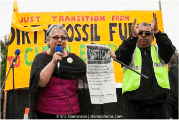 Mayor Gayle McLaughlin at Chevron refinery protest