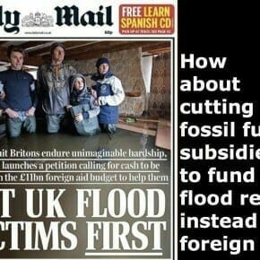 Floods, fossil fuel subsidies and the Daily Mail