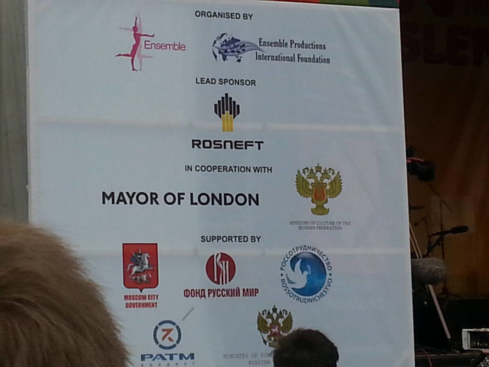 Sunday at Trafalgar Square: oil sponsorship meets Russian militarism