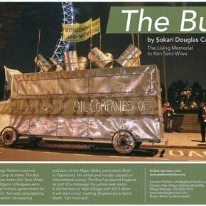 'The Bus' memorial for Ken Saro-Wiwa is on the move...