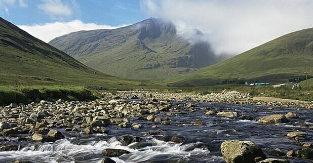 Mountain of Ben Lui, Pertshire, seen from Strath Cononish