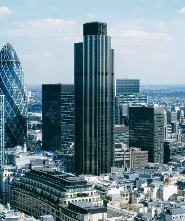 Tower 42 in The City of London engineered by Pell Frischman ltd