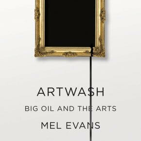 Artwash cover. Mel Evans, Pluto Press 2015.