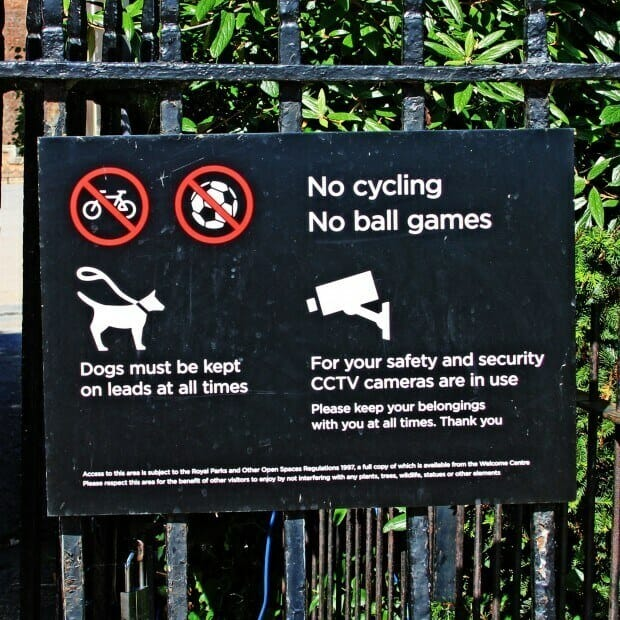No Ball Games CCTV