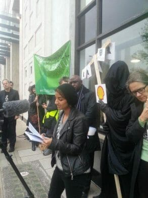 Suzanne Dhaliwal - Platform - reading at Vigil for the Ogoni 9