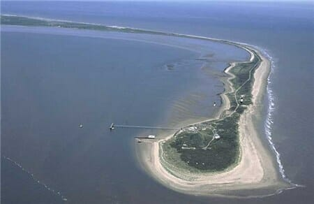 Spurn Head at the mouth of the Humber, East Yorkshire