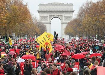Red Lines demonstration in Paris at the COP21