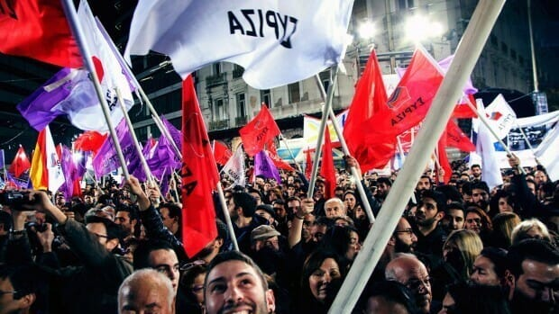 The moment of Syriza's election victory 25th January 2015