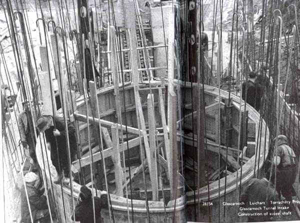 Constructing the Loch Glascarnoch hydro electric power scheme 1956